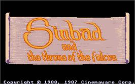 Title screen of Sinbad and the Throne of the Falcon on the Atari ST.