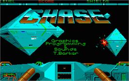 Title screen of Sky Chase on the Atari ST.