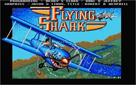 Title screen of Sky Shark on the Atari ST.