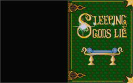 Title screen of Sleeping Gods Lie on the Atari ST.