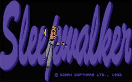 Title screen of Sleepwalker on the Atari ST.