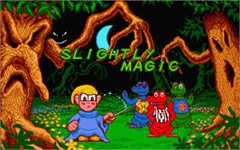 Title screen of Slightly Magic on the Atari ST.
