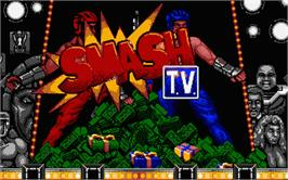 Title screen of Smash T.V. on the Atari ST.