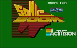 Title screen of Sonic Boom on the Atari ST.