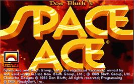 Title screen of Space Ace on the Atari ST.