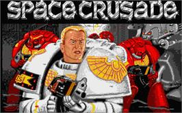 Title screen of Space Crusade on the Atari ST.