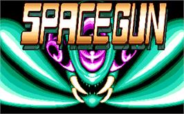 Title screen of Space Gun on the Atari ST.