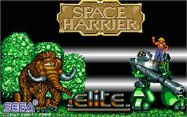 Title screen of Space Harrier on the Atari ST.