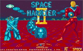 Title screen of Space Harrier II on the Atari ST.