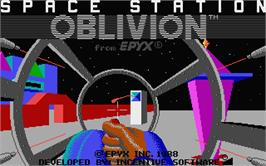 Title screen of Space Station Oblivion on the Atari ST.