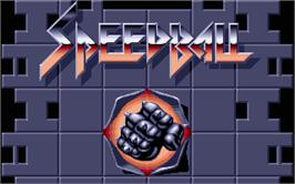 Title screen of Speedball on the Atari ST.