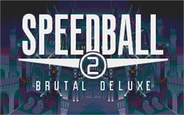 Title screen of Speedball 2: Brutal Deluxe on the Atari ST.