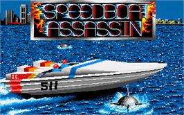 Title screen of Speedboat Assassins on the Atari ST.