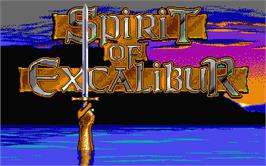 Title screen of Spirit of Excalibur on the Atari ST.