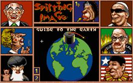 Title screen of Sporting Triangles on the Atari ST.