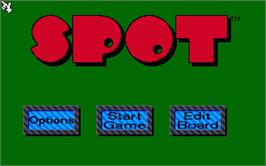 Title screen of Spot on the Atari ST.