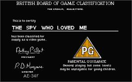 Title screen of Spy Who Loved Me on the Atari ST.