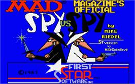 Title screen of Spy vs. Spy on the Atari ST.