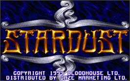 Title screen of Star Dust on the Atari ST.