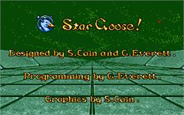 Title screen of Star Goose on the Atari ST.