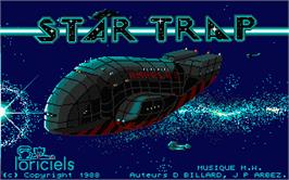 Title screen of Star Trap on the Atari ST.