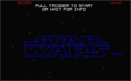 Title screen of Star Wars: The Empire Strikes Back on the Atari ST.