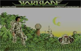 Title screen of Starblade on the Atari ST.