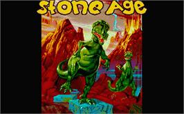 Title screen of Stoneage on the Atari ST.