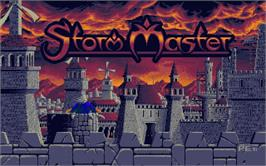 Title screen of Storm Master on the Atari ST.