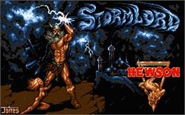Title screen of Stormlord on the Atari ST.