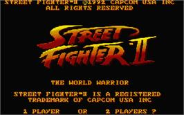 Title screen of Street Fighter II - The World Warrior on the Atari ST.