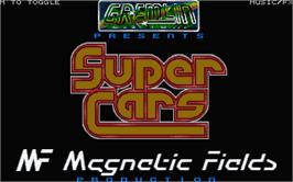 Title screen of Super Cars on the Atari ST.