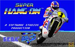 Title screen of Super Hang-On on the Atari ST.