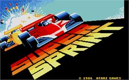 Title screen of Super Sprint on the Atari ST.