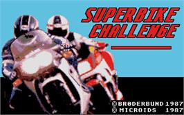 Title screen of Superbike Challenge on the Atari ST.