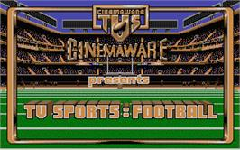 Title screen of TV Sports Football on the Atari ST.