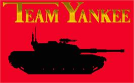 Title screen of Team Yankee on the Atari ST.