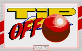 Title screen of Tee Off on the Atari ST.