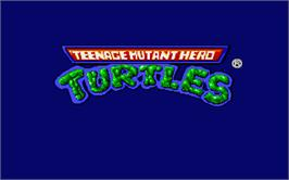 Title screen of Teenage Mutant Ninja Turtles on the Atari ST.