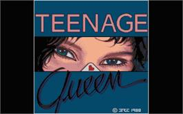 Title screen of Teenage Queen on the Atari ST.