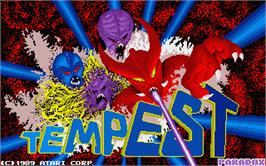 Title screen of Tempest on the Atari ST.