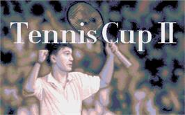 Title screen of Tennis Cup 2 on the Atari ST.