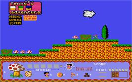 Title screen of Terry's Big Adventure on the Atari ST.