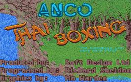 Title screen of Thai Boxing on the Atari ST.