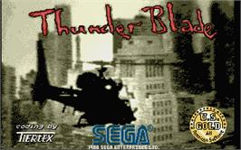 Title screen of Thunder Blade on the Atari ST.