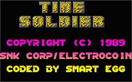 Title screen of Time Soldiers on the Atari ST.