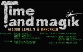 Title screen of Time and Magik: The Trilogy on the Atari ST.
