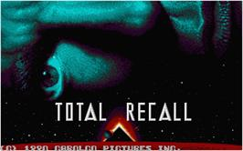 Title screen of Total Recall on the Atari ST.