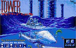 Title screen of Tower Toppler on the Atari ST.