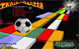 Title screen of Trail Blazer on the Atari ST.